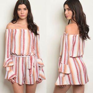 Dresses & Skirts - NWT $90 Striped Romper Dress free people